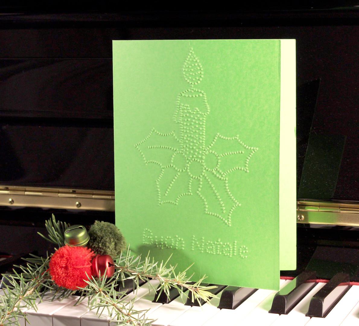 Biglietti natalizi in braille