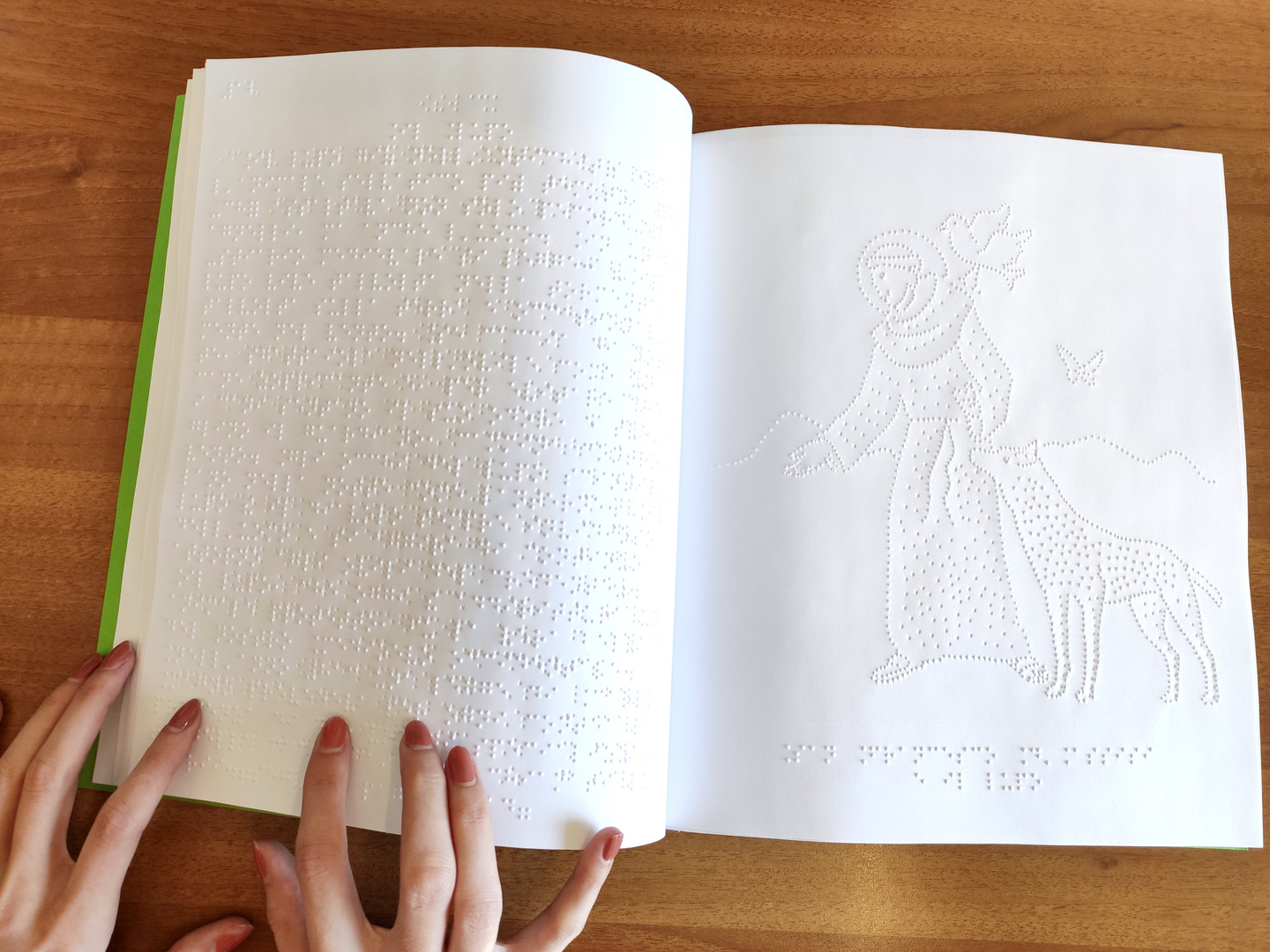 Calendario Braille con disegni