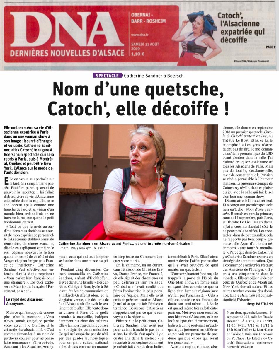 Dernières Nouvelles d'Alsace du 31/08/2019
