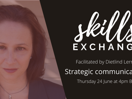 [SKILLS EXCHANGE / 24 June] Strategic communications for independent consultants