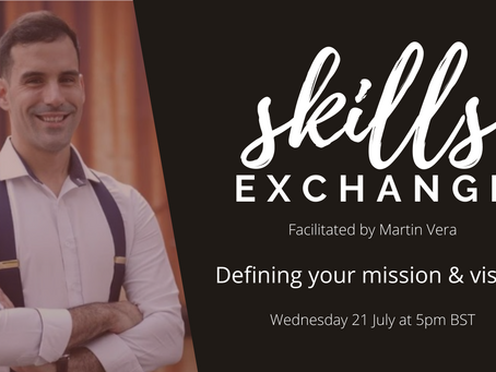 [SKILLS EXCHANGE / 21 July] Defining your mission and vision as a social impact professional