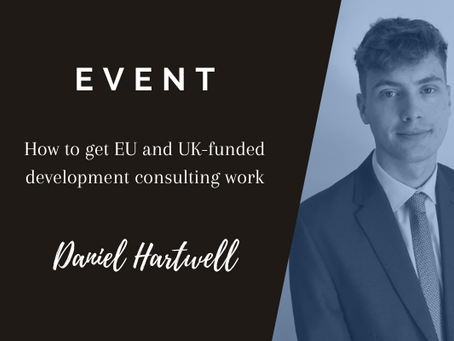 EVENT (10 Feb '21): How to get EU and UK-funded development consulting work, with VJW International