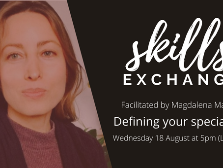 """[SKILLS EXCHANGE /18 Aug] How to define your consulting """"specialism"""""""