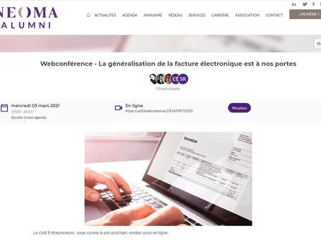 La généralisation de la facture électronique un point avec Neoma Alumni 3 mars