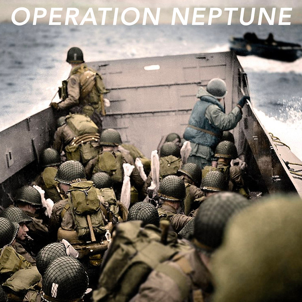 The Astrology of D-Day aka Operation Neptune - colorized photo by Paul Reynolds