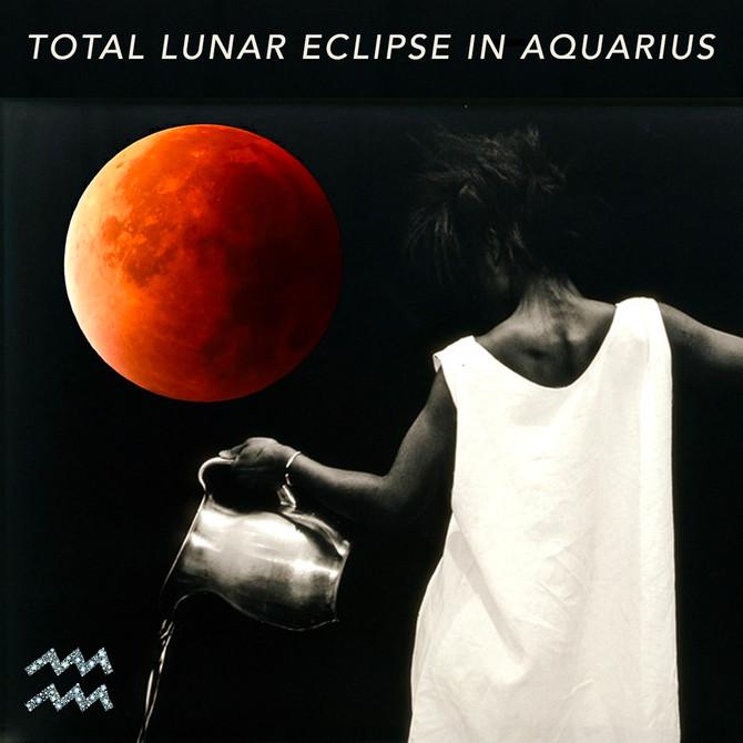 Lunar Eclipse in Aquarius - Releasing For The Future 🌬