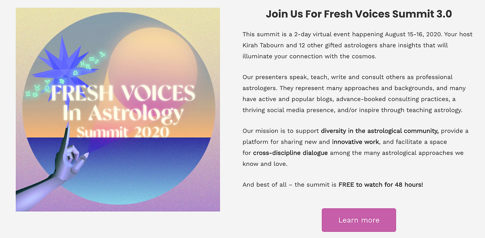 Fresh Voices In Astrology 2020