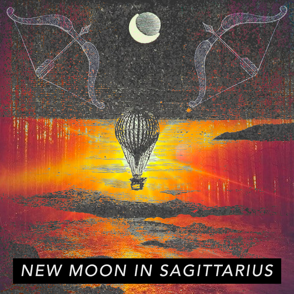 New Moon in Sagittarius 2018 - Energetic Principles - Image from Dream Cards