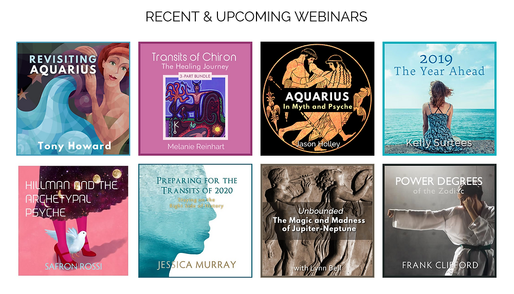 Astrology University - Recent & Upcoming Webinars - Feb 2019