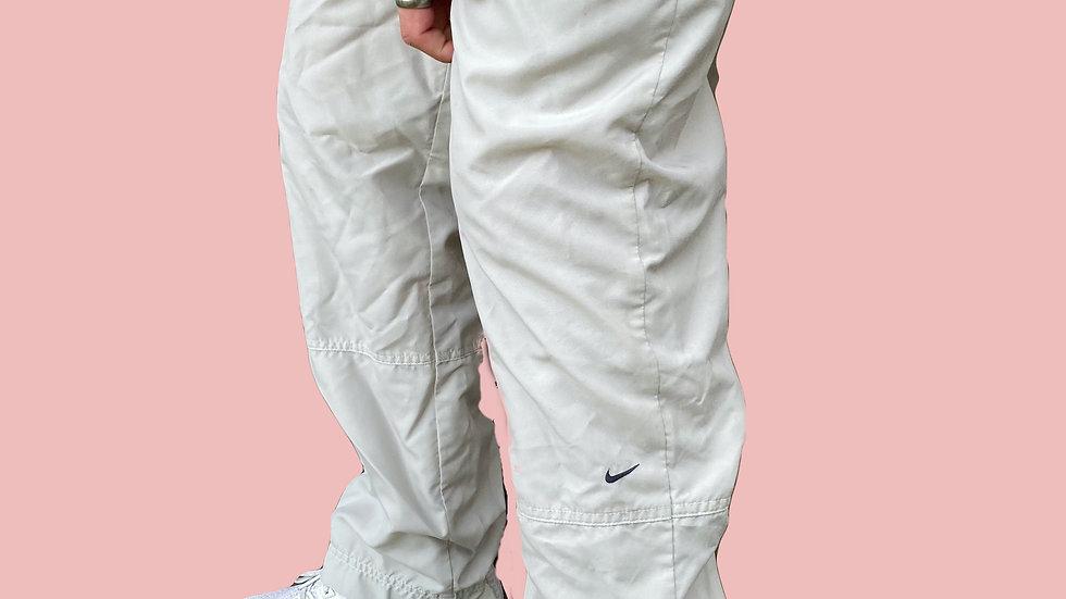 Vintage beige Nike tracksuit bottoms