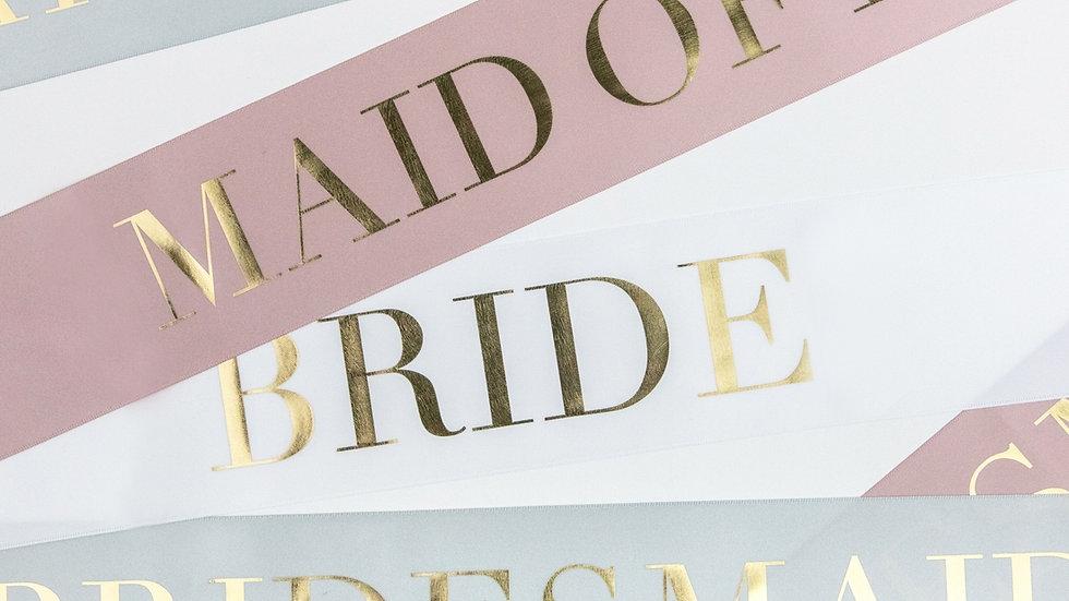 Bridal Party Sash - Bridesmaid