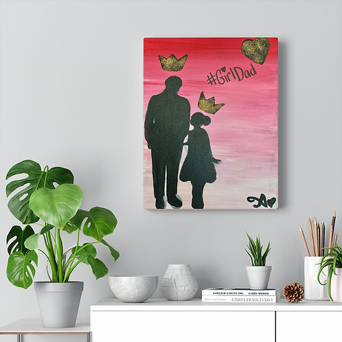 """GIRL DAD"" Canvas Print"