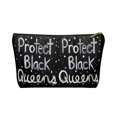 """BLACK QUEENS"" Accessory Pouch w/ T-bottom"