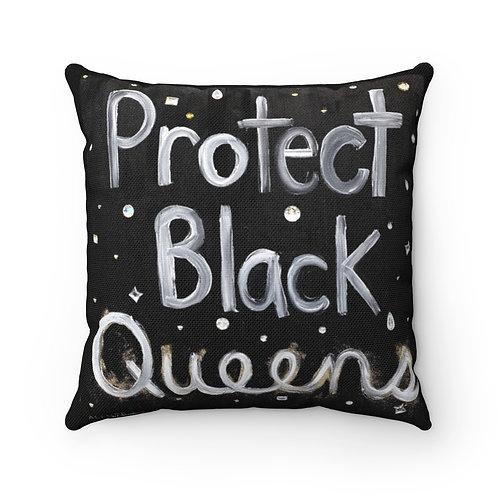 """BLACK QUEENS"" Square Pillow"