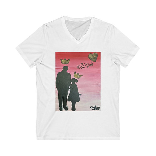 """GIRL DAD"" Unisex V-Neck"