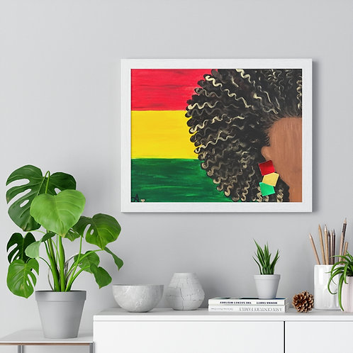 """ISLAND GAL"" Framed Poster Print"