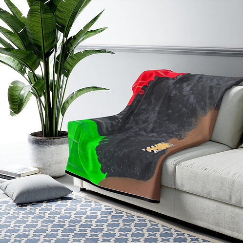 """LADY LIBERATION"" Fleece Blanket"