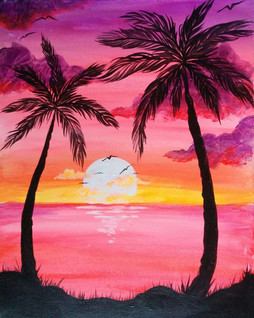 Warm Pink Palms