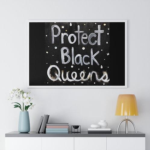 """""""BLACK QUEENS"""" Framed Poster Print"""