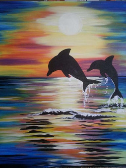 Dolphins at Daybreak