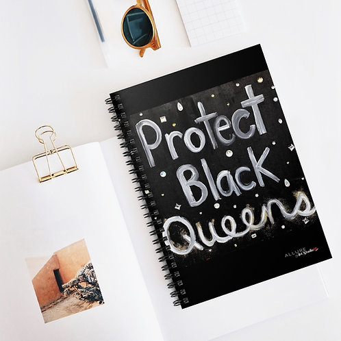 """BLACK QUEENS"" Spiral Notebook"