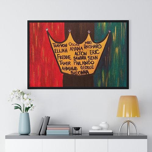 """""""BLACK LIVES ROYALTY"""" Framed Poster Print"""