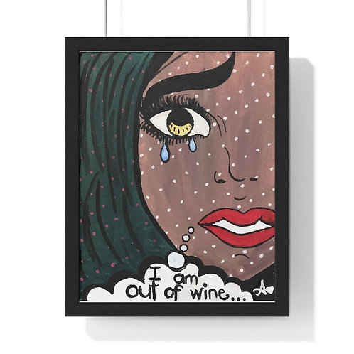 """POUR IT UP"" Framed Poster Print"