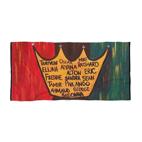 """BLACK LIVES ROYALTY"" Beach Towel"