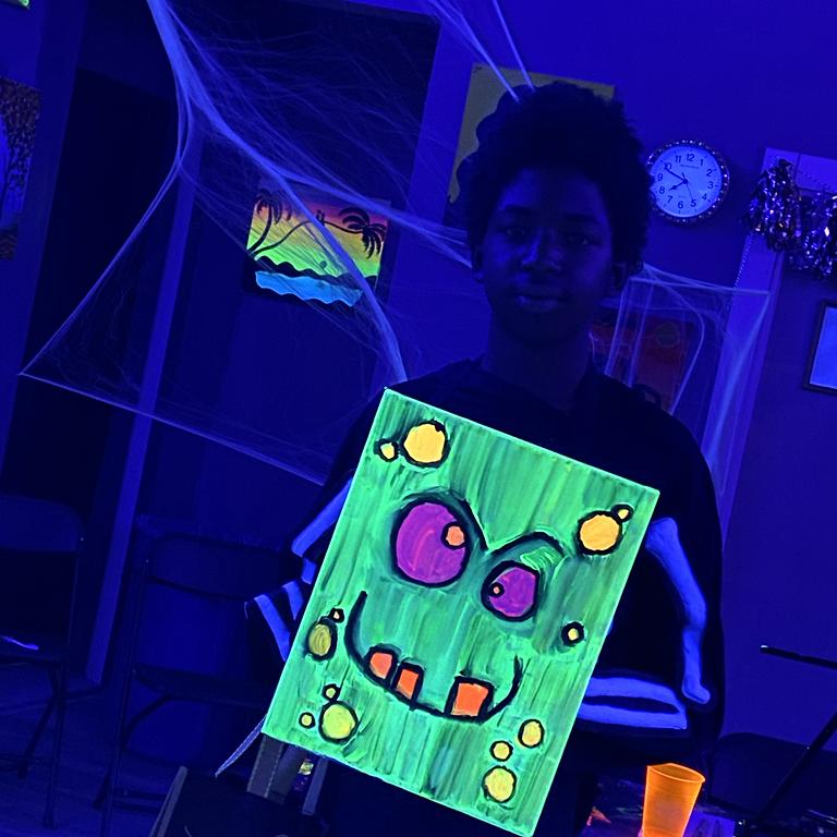 Kids Halloween Glow in the Dark PAINT PARTY
