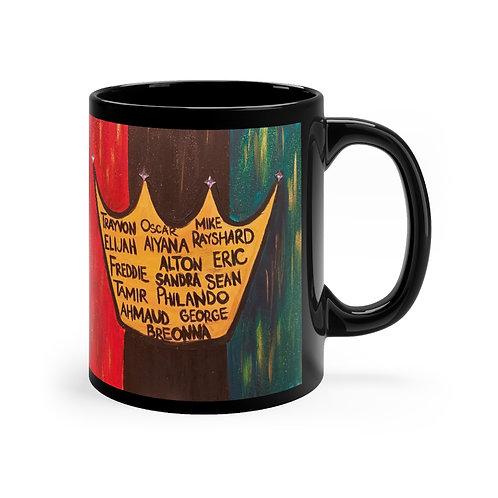 """""""BLACK ROYALTY"""" Black Coffee Mug"""