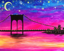 Neon Brooklyn Bridge
