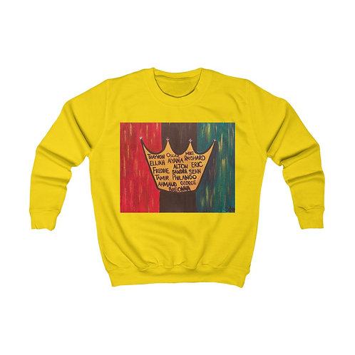 """""""BLACK ROYALTY"""" Kids Sweatshirt"""