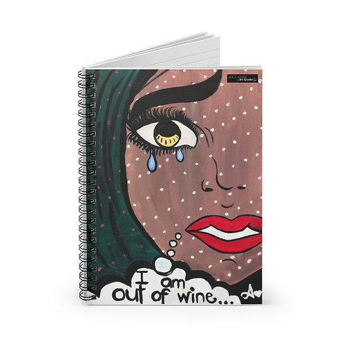 """POUR IT UP"" Spiral Notebook"