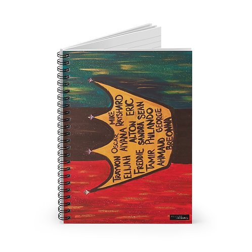 """BLACK ROYALTY"" Spiral Notebook"