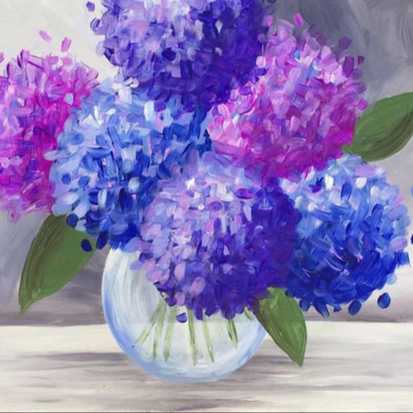 """Wine Down Wednesdays - """"Purple Hydrangeas"""""""