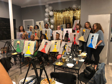 Birthday Paint Party