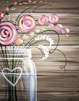 Wooden Bouquet