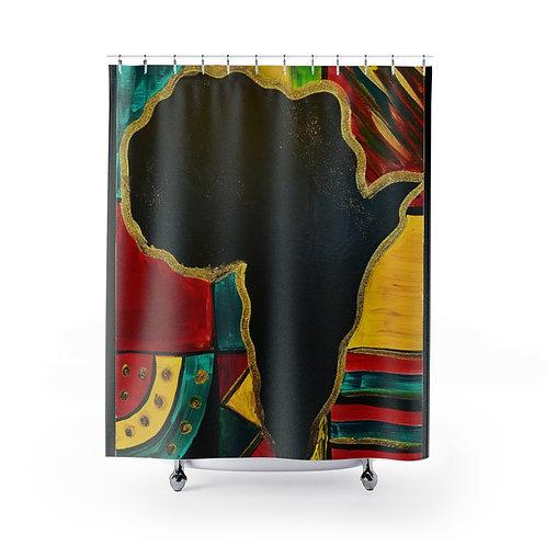 """MAMA AFRICA"" Shower Curtain"