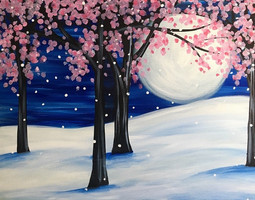 Pink Blossom Moonlight