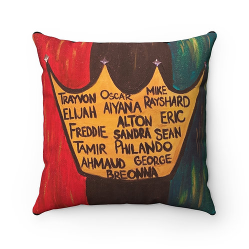 """BLACK LIVES ROYALTY"" Square Pillow"