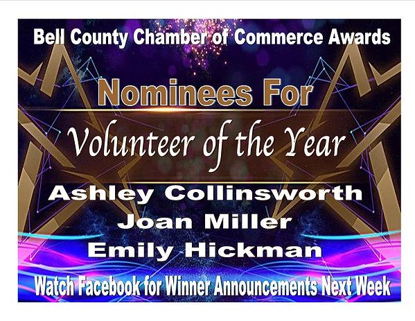 Award Presentation Volunteer of the Year