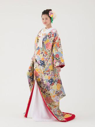 千鳥草花紋様(紺)