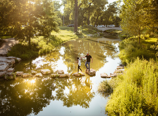 Alicia & Nathan, Forest Park Engagement Session