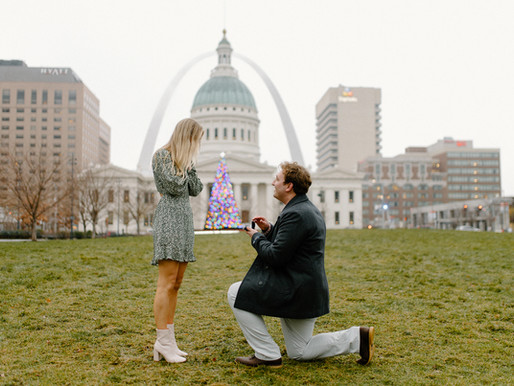Brendan & Emily, Saint Louis Arch Wedding Proposal