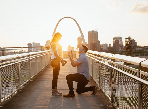 Sarah & Cole, Saint Louis Gateway Arch Wedding Proposal