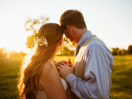 Cody & Carolynn, Golden Sunset Wedding