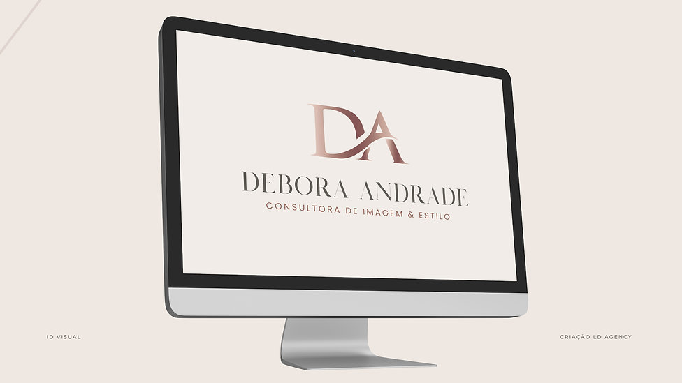 Debora Andrade Identidade visual logotip