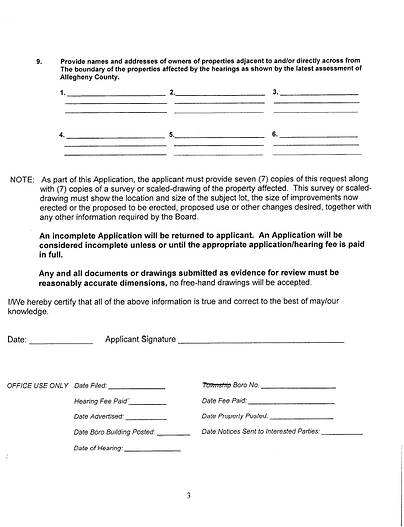 Zoning Hearing Board Request Page 3.png