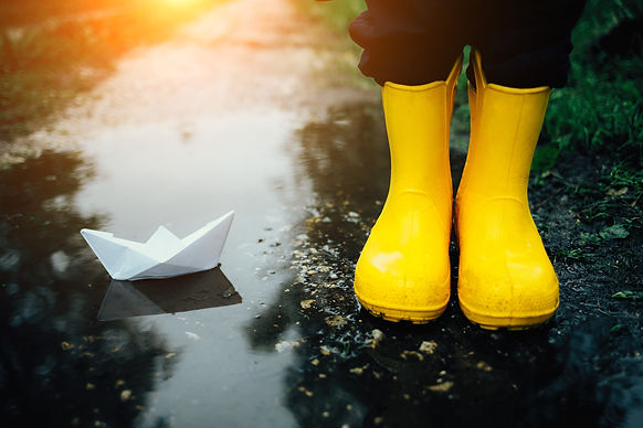 Yellow Boots with Paper Boat.jpg