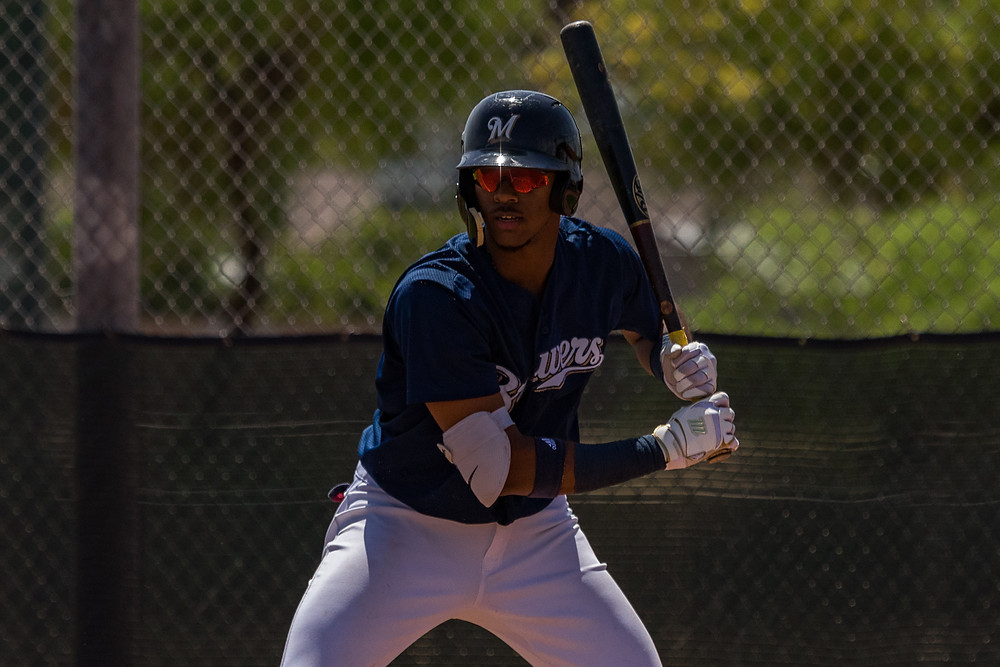 FRA national team player Ernesto Martinez warms up in Brewers spring training PC: Praka Photograpy